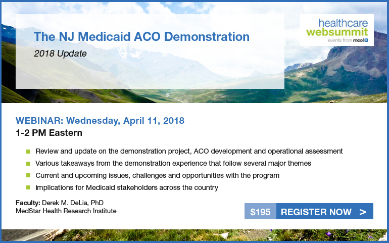 The NJ Medicaid ACO Demonstration - 2018 Update